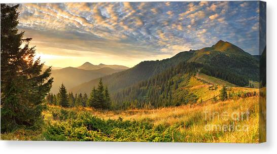 Beautiful Mountains Landscape Canvas Print by Boon Mee