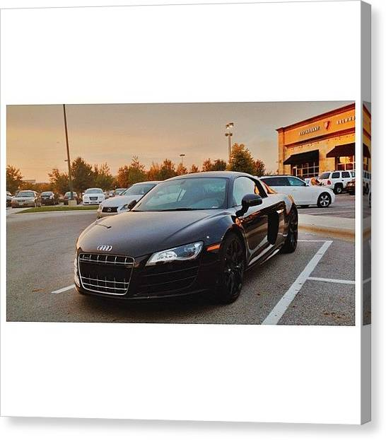 Audi Canvas Print - Beautiful Night To Be Taking This Bitch by Joel Torres