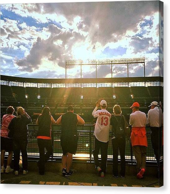 Orioles Canvas Print - Beautiful Night To Clinch The Al East by Olivia Witherite