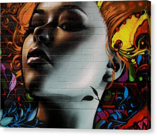 Hip Hop Canvas Print - Beautiful On The Wall by Arik Bennado