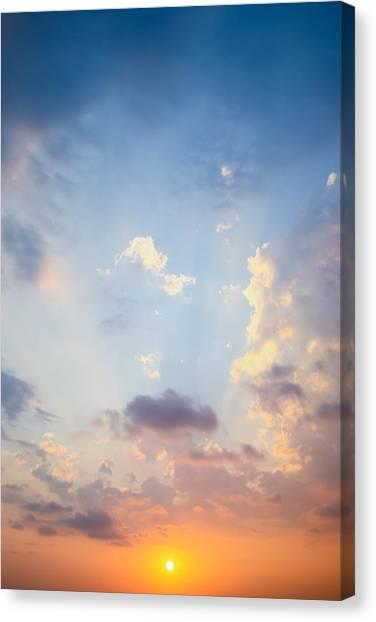 Beautiful Orange Sunset Canvas Print