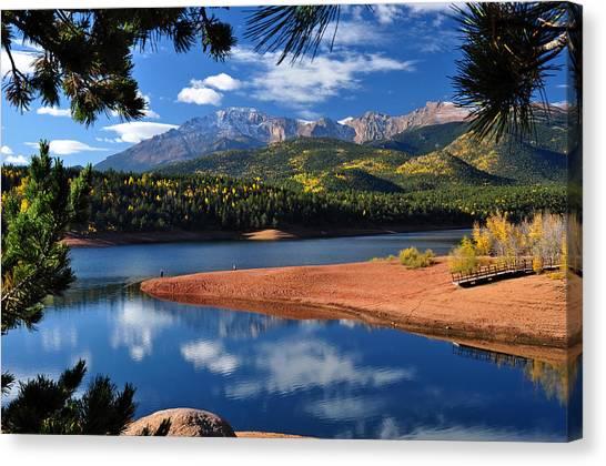 Beautiful Pikes Peak At Crystal  Canvas Print