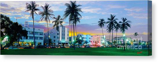 Miami Skyline Canvas Print - Beautiful South Beach by Jon Neidert