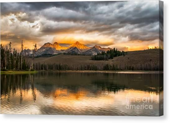 Sublime Canvas Print - Beautiful Sunrise On Little Redfish Lake by Robert Bales