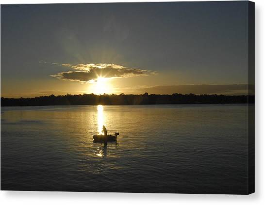 Beautiful Sunset Canvas Print by David Yack
