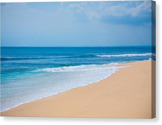 Beautiful Surfing Tropical Sand Beach Canvas Print