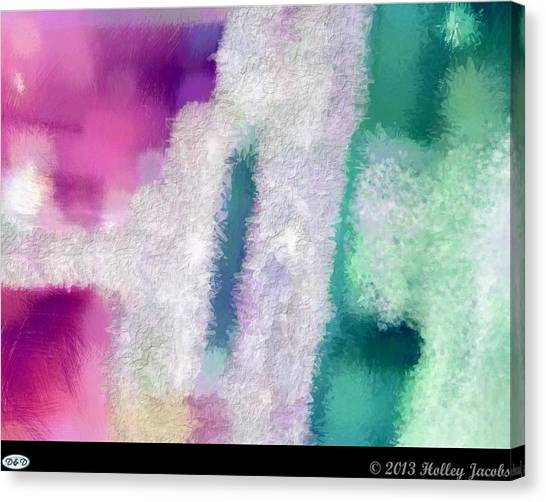 Beautiful Teal Canvas Print by Holley Jacobs
