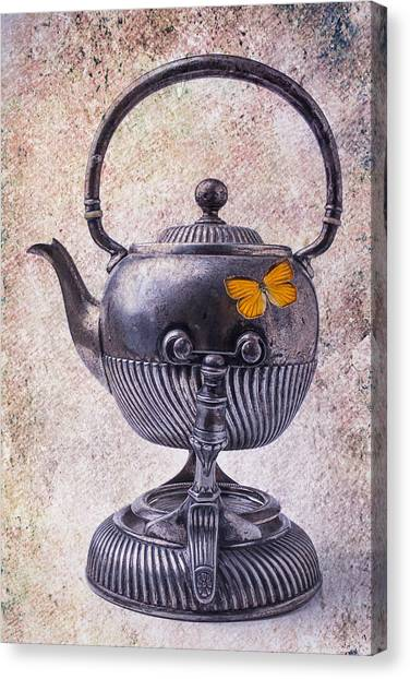 Tea Time Canvas Print - Beautiful Teapot by Garry Gay
