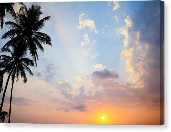Beautiful Tropical Sunset Canvas Print