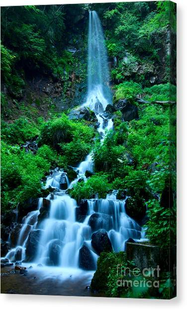 Beautiful Waterfalls In Karuizawa Japan Canvas Print