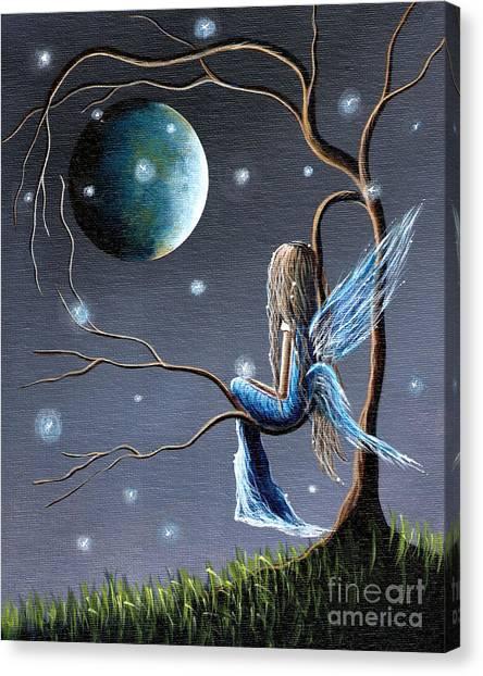 Angel Blues Canvas Print - Fairy Art Print - Original Artwork by Shawna Erback