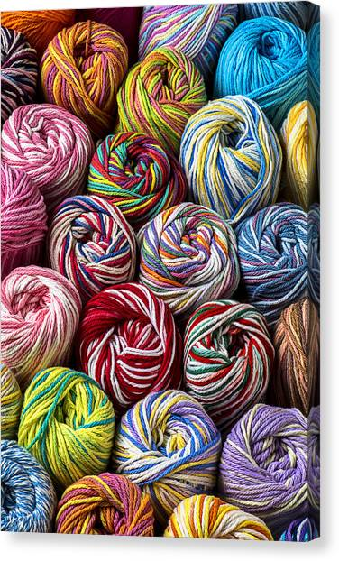 Colorful Canvas Print - Beautiful Yarn by Garry Gay