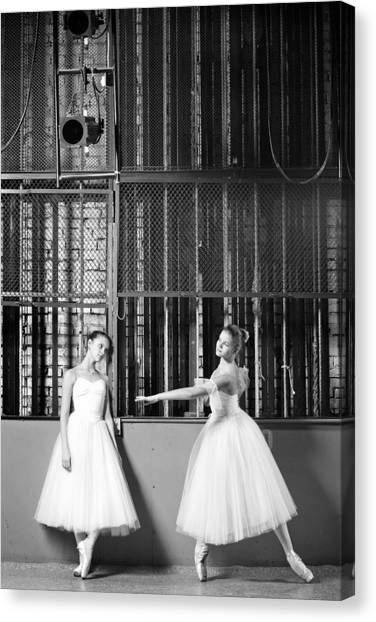 Beautiful Young Ballet Dancers In Rehearsal Canvas Print by Ilya Lokalin