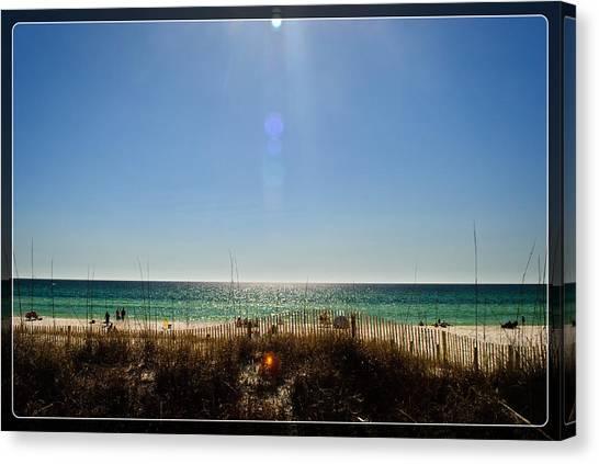 Beauty And The Beach Canvas Print