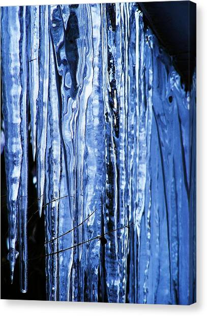 Beauty Of Ice Canvas Print