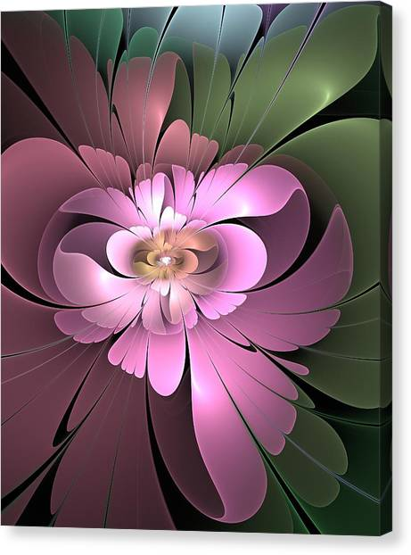 Beauty Queen Of Flowers Canvas Print