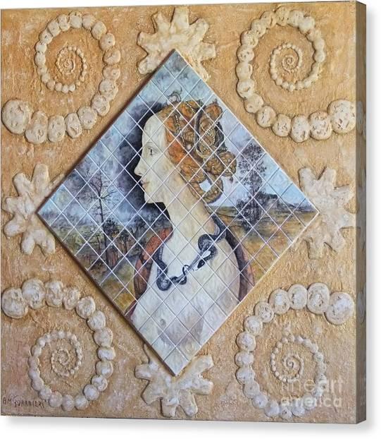Beauty - Simonetta Cattaneo Canvas Print by Anna Maria Guarnieri
