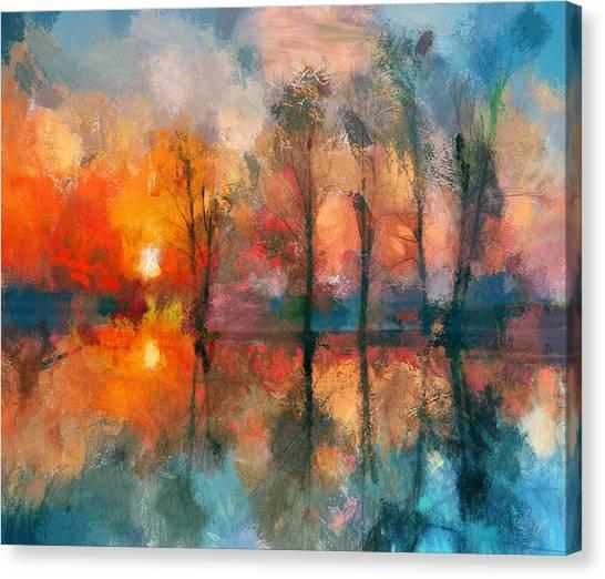 Beauty Sunset Canvas Print by Yury Malkov