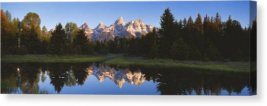 Wy Canvas Print - Beaver Pond Grand Teton National Park Wy by Panoramic Images