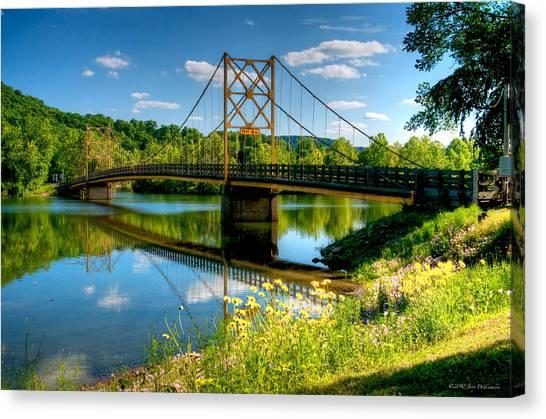 Beaver Town Bridge Canvas Print by Jerry Williamson