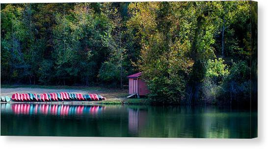 Beavers Bend Reflection Canvas Print