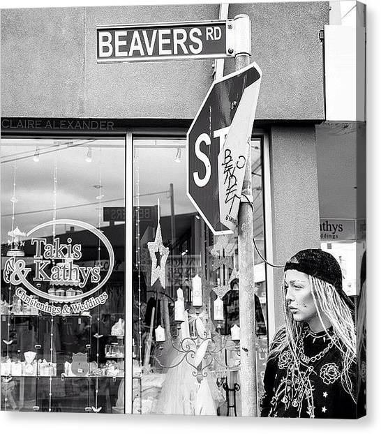 Beavers Canvas Print - #beavers Road W/ @ihatekdiddy by Claire Alexander