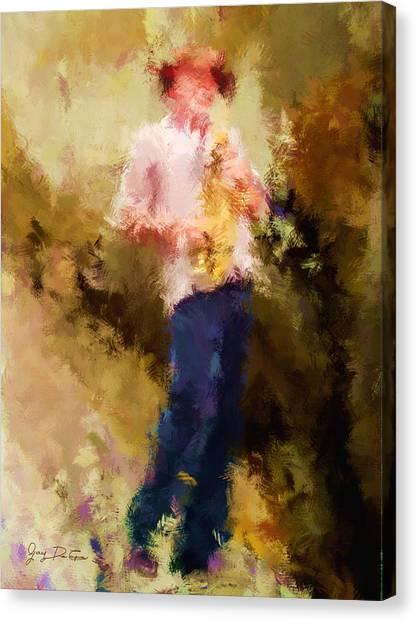 Bebop Sax Man Canvas Print