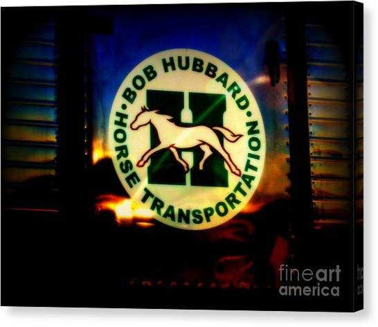 Because God Knows Horses Need Good Transportation Canvas Print