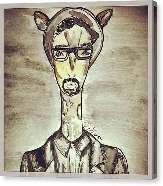 Giraffes Canvas Print - Because I Have Such #beautiful And by Benj Curtis