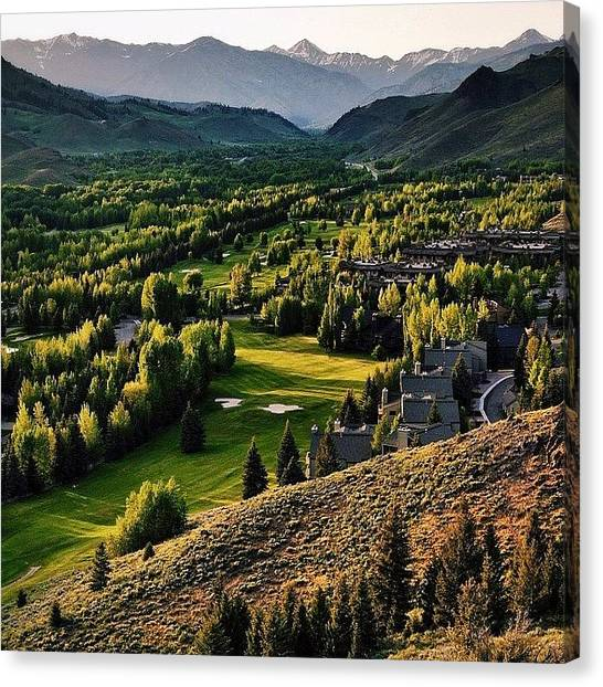 Idaho Canvas Print - Because It's There. #ketchum by Cody Haskell