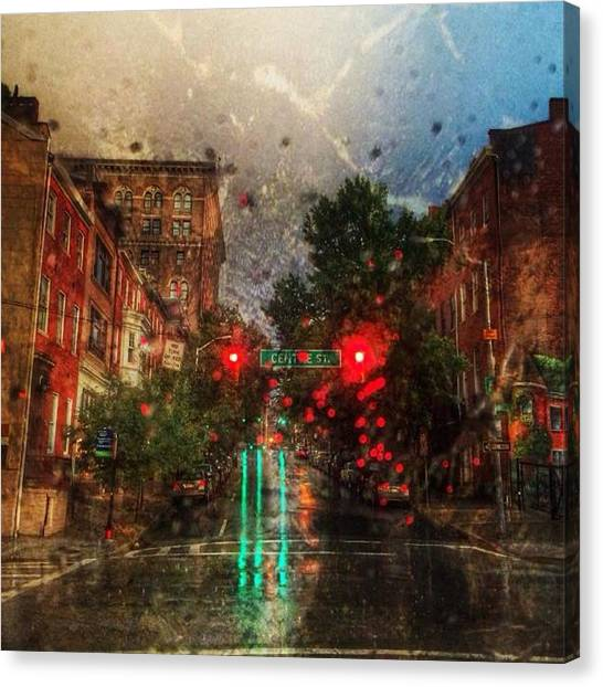 Because Of The Rain Canvas Print