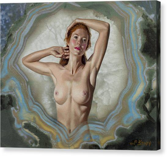 Background Canvas Print - Becca In Geode by Paul Krapf