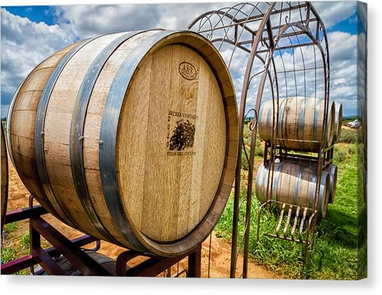 Becker Vineyards Canvas Print