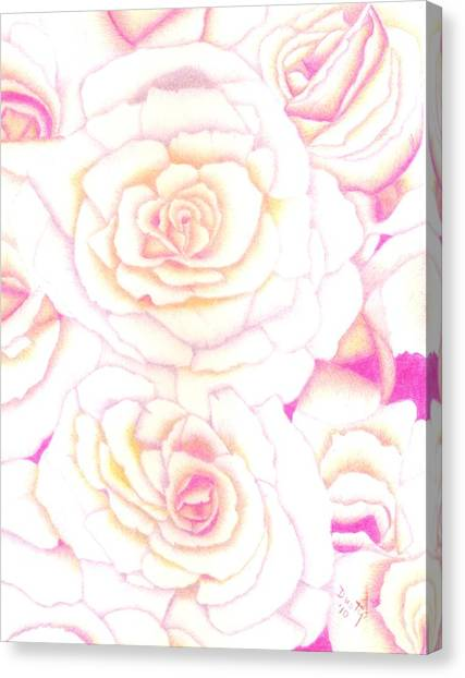 Bed Of Roses Canvas Print by Dusty Reed