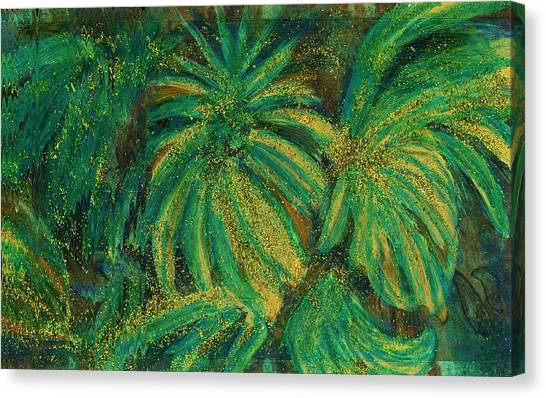 Canvas Print - Bedazzled Leaves by Anne-Elizabeth Whiteway