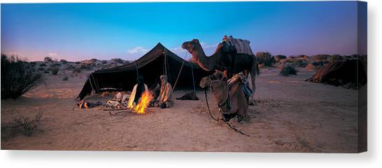 Sahara Desert Canvas Print - Bedouin Camp, Tunisia, Africa by Panoramic Images
