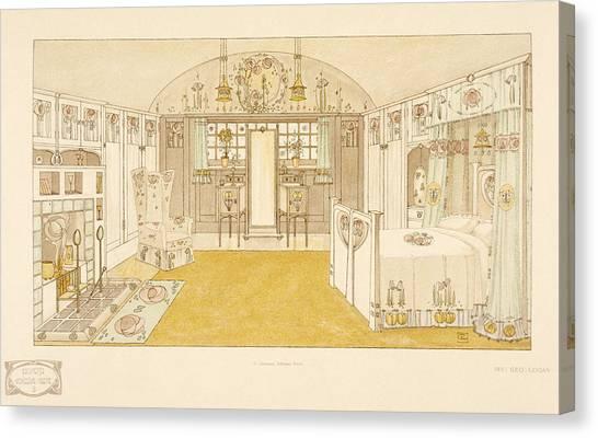 Tile Canvas Print - Bedroom, Logan George by George Logan