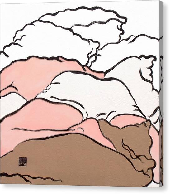 Bedscape Two Am Canvas Print