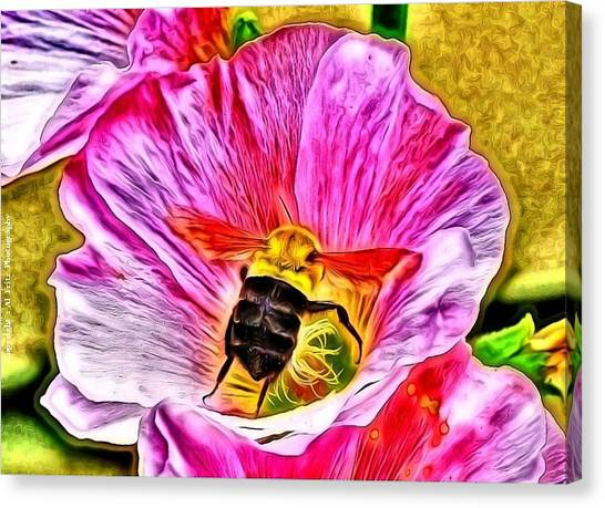 Bee Here In Colour Canvas Print by Al Fritz