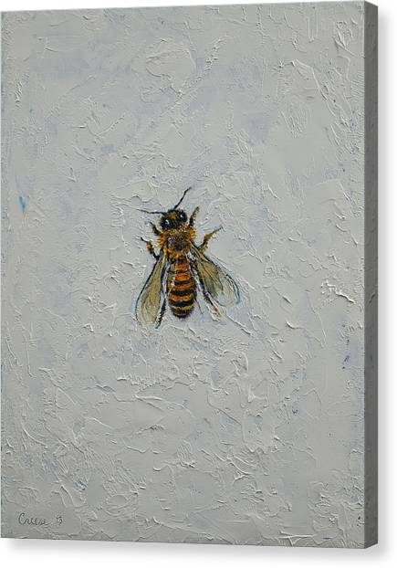 Bugs Canvas Print - Bee by Michael Creese
