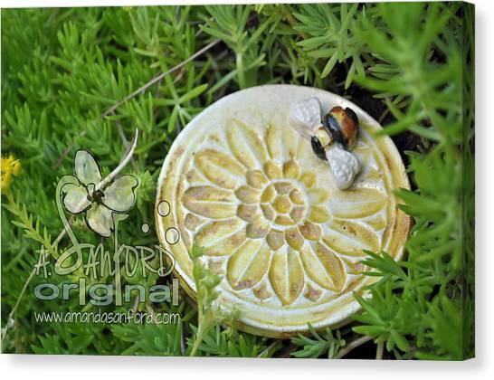 Bee-ware Canvas Print by Amanda  Sanford