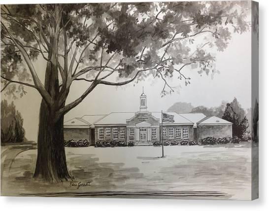 Beechwood School Building Canvas Print
