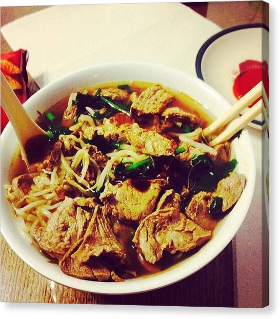 Vietnamese Canvas Print - Beef Pho For Dinner.  #homemade by Timmy Tran