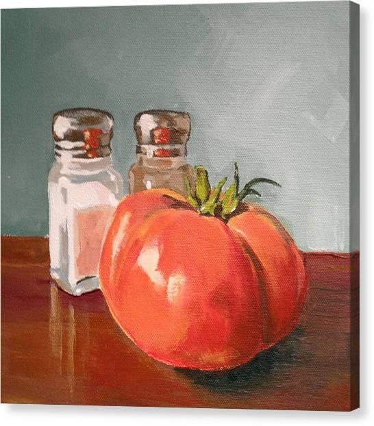 Tomato Canvas Print - Beefmaster by Jeffrey Bess