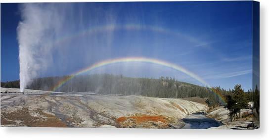 Beehive's Double  Rainbow Canvas Print