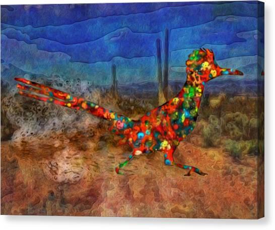 Roadrunner Canvas Print - Beep Beep by Jack Zulli