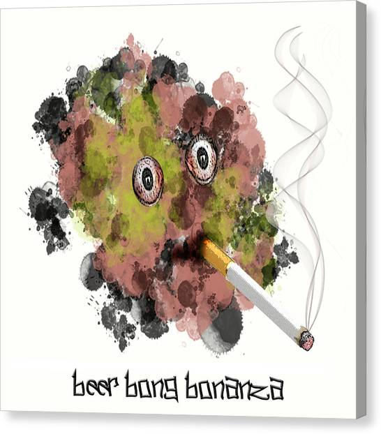 Beer Bong Bonanza Canvas Print