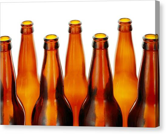 Craft Beer Canvas Print - Beer Bottles by Jim Hughes