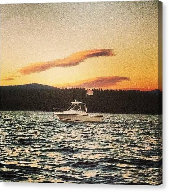 Lake Sunsets Canvas Print - Beer Can Racing #lake#laketahoe#sailing by Tim  Rantz