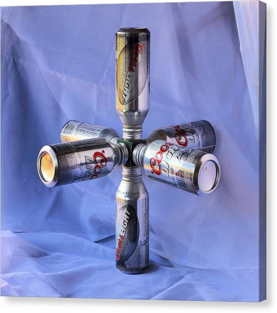 Beer Cans Space Station Canvas Print by Viktor Savchenko